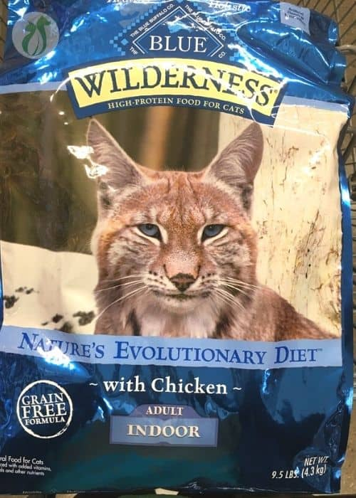 Bag of Blue Indoor Cat Food-a decent high fiber choice for constipated cats
