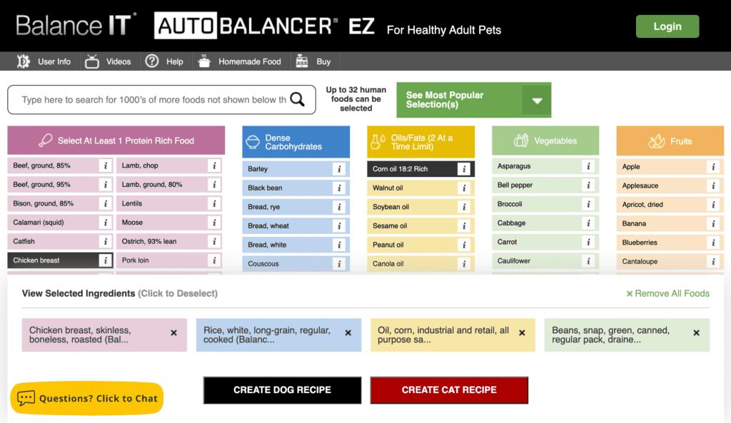 Free recipe creator at BalanceIT.com